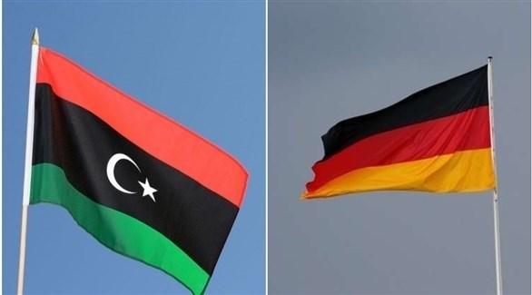 علما ألمانيا وليبيا (أرشيف)