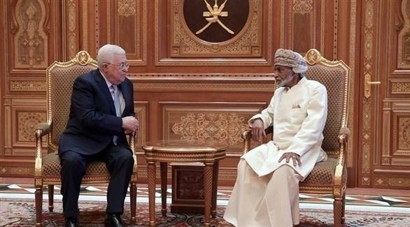 لقاء سابق بين السلطان قابوس ومحمود عباس (أرشيف)