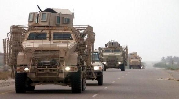 قافلة عسكرية لآلوية العمالقة في الحديدة (أرشيف)