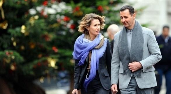 بشار الأسد برفقة زوجته أسماء (أرشيف)