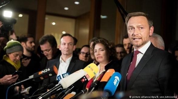 زعيم الحزب الديمقراطي الحر الألماني، كريستيان ليندنر (أرشيف)