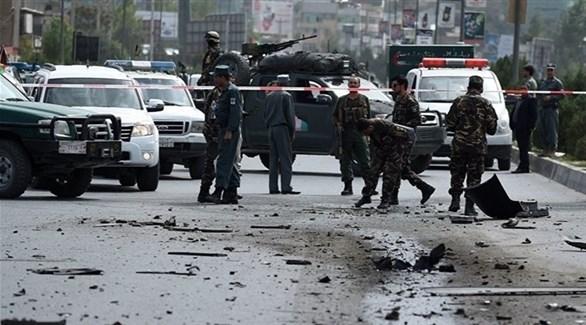 طوق أمني حول موقع انفجار سابق في كابول (أرشيف)