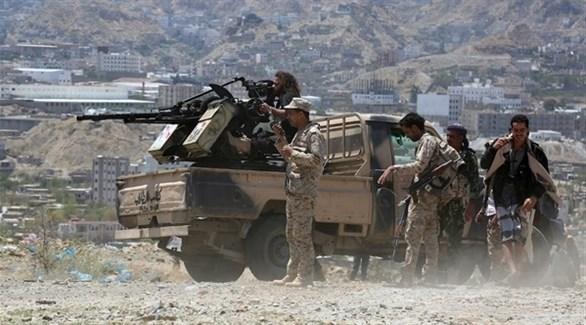 قوة من الجيش الوطني اليمني (أرشيف)