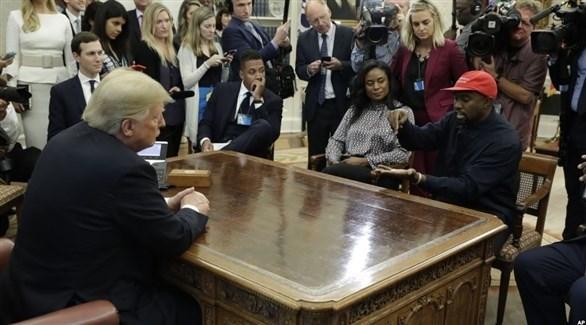 لقاء الرئيس دونالد ترامب وكاني ويست في البيت الأبيض قبل 3 أسابيع (أرشيف)