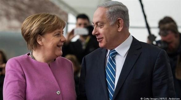 المستشارة الألمانية أنجيلا ميركل ورئيس الوزراء الإسرائيلي بنيامين نتانياهو (أرشيف)
