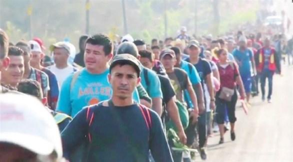 قافلة المهاجرين في طريقها إلى أمريكا (أرشيف)