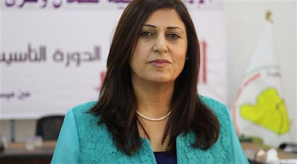 لرئيسة المشتركة لمجلس سوريا الديمقراطية أمينة عمر (وكالة هاوار)