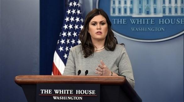 المتحدثة باسم البيت الأبيض ساره ساندرز (أرشيف)