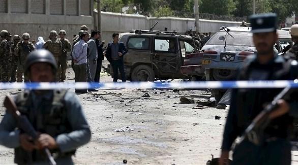 أمن أفغاني في موقع تفجير سابق (أرشيف)