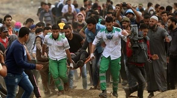 إصابة فلسطيني في أحد مسيرات العودة بغزة (أرشيف)