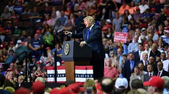 الرئيس الأمريكي دونالد ترامب الثلاثاء في ميسيسيبي (أ ف ب)