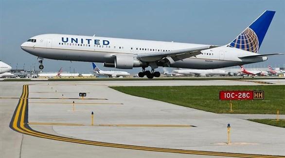 طائرة من أسطول يونايتد ايرلاينز  الأمريكية في مطار سيدني (إس بي إس)