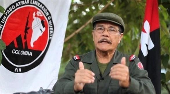 قائد جيش التحرير الوطني الكولومبي رودريجيز باوتيستا (أرشيف)
