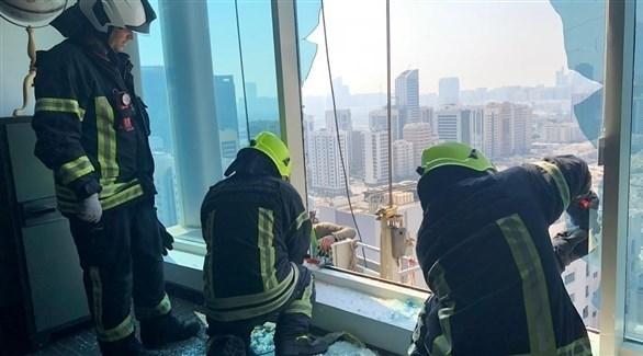 من إنقاذ العاملين الآسيوين في أبوظبي (من المصدر)