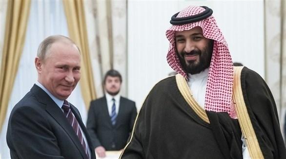 الرئيس فلاديمير بوتين وولي العهد السعودي الأمير محمد بن سلمان بن عبد العزيز آل سعود (أرشيف)