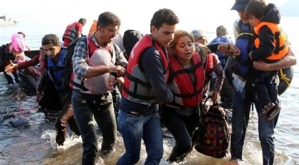 مهاجرون يصلون الشواطئ اليونانية (أرشيف)