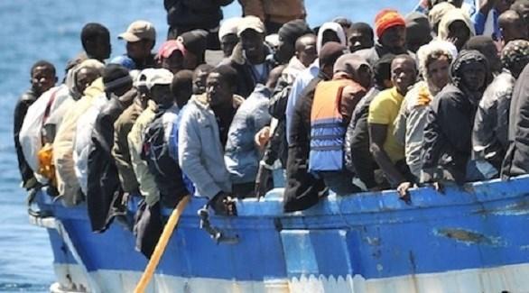 مهاجرين أفارقة في بحر البوران (أرشيف)