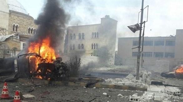 انفجار سيارة بمدينة عزاز بريف حلب (أرشيف)