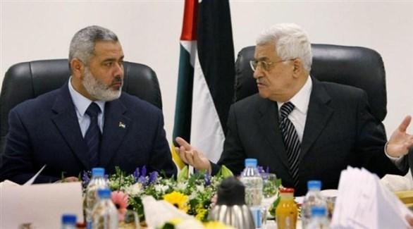محمود عباس واسماعيل هنية (أرشيف)