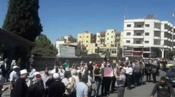 اعتصام في محافظة السويداء (المرصد السوري)