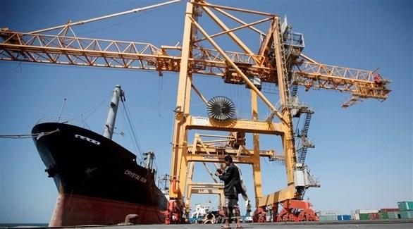 سفن نفطية وتجارية في ميناء الحديدة (أرشيف)
