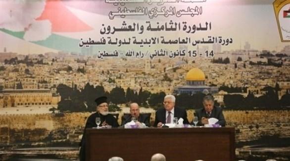 المجلس الوطني الفلسطيني بقيادة الرئيس الفلسطيني محمود عباس (أرشيف)