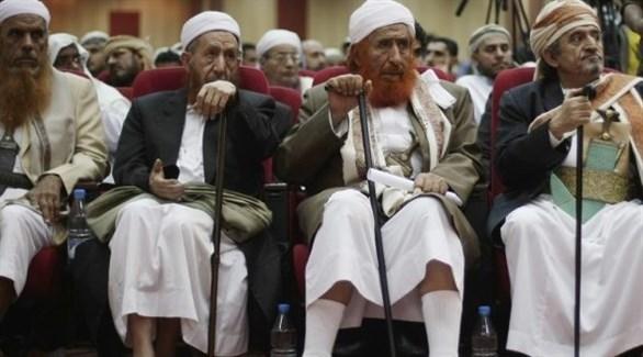 زعيم الإخوان اليمنيين ورئيس حزب الإصلاح عبد المجيد الزنداني وقيادات من حزبه (أرشيف)