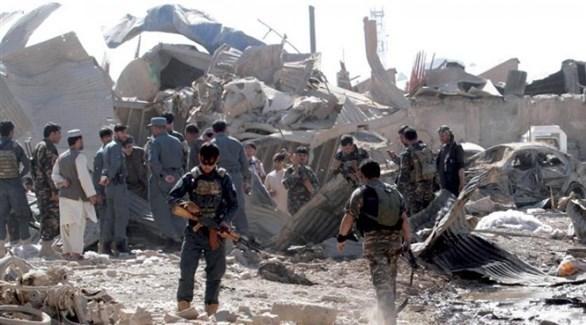 انفجار سابق لمنزل استخدمته طالبان لتصنيع قنابل يدوية (أرشيف)