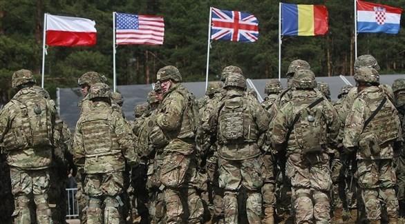 قوات من حلف الناتو في مناورة عسكرية (أرشيف)