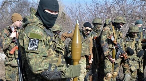 مسلحون انفصاليون موالون لروسيا في أوكرانيا (أرشيف)