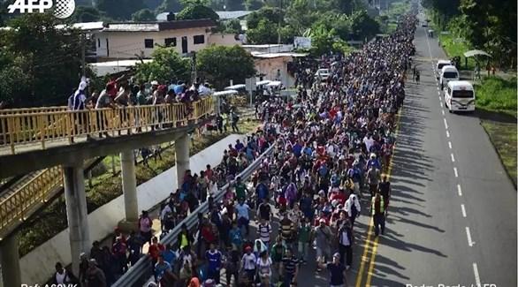 مهاجرون من أمريكا الوسطى إلى الولايات المتحدة (أ.ف.ب)