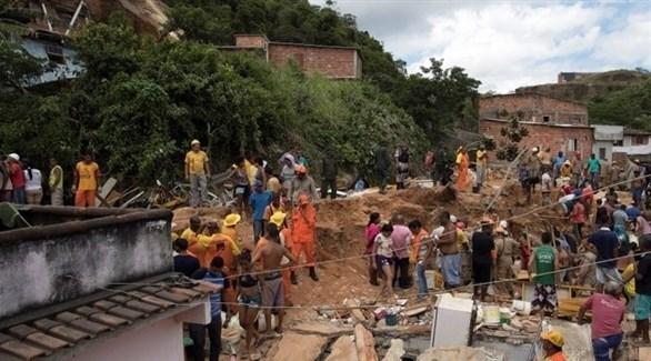 انهيار أرضي في البرازيل (تويتر)