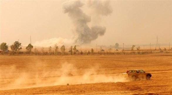 تصاعد الدخان بعد غارة  للتحالف على شمال العراق (أرشيف)