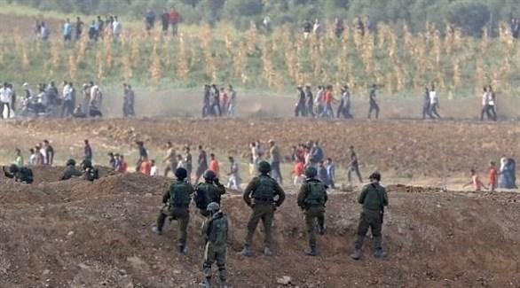 جنود الاحتلال الإسرائيلي قرب حدود غزة (أرشيف)
