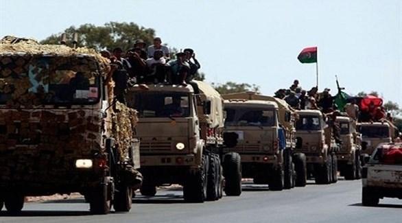 رتل عسكري للجيش الوطني الليبي (أرشيف)