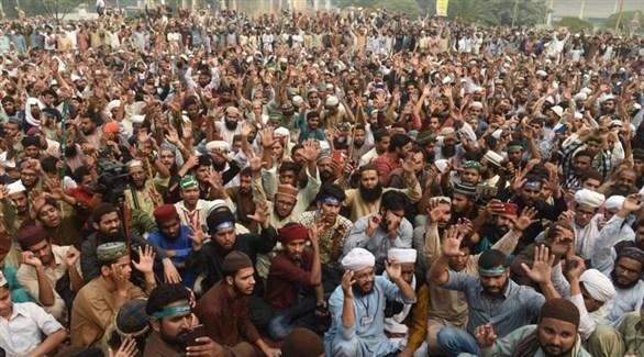 تظاهرة لمتشددين إسلاميين في باكستان (أرشيف)