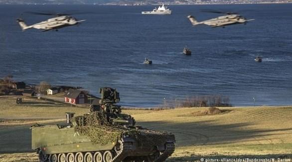 آليات عسكرية مشاركة في إحدى التدريبات (أرشيف)