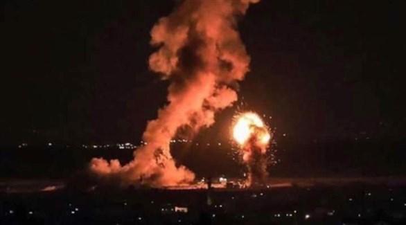انفجار في غزة بعد قصف إسرائيلي (أرشيف)