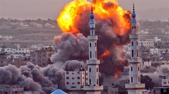 تصاعد النيران في غزة بعد قصف إسرائيلي (أرشيف)