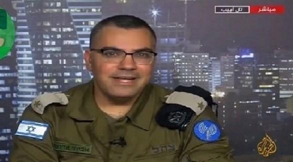 المتحدث باسم جيش الاحتلال الإسرائيلي أفيخاي أدرعي على قناة الجزيرة (أرشيف)