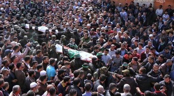 فلسطينيون يشيعون جثامين شهداء جنوب قطاع غزة (أرشيف)