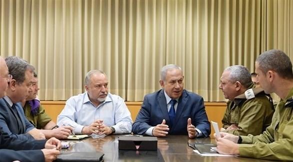 اجتماع سابق لقادة الاحتلال الإسرائيلي (أرشيف)