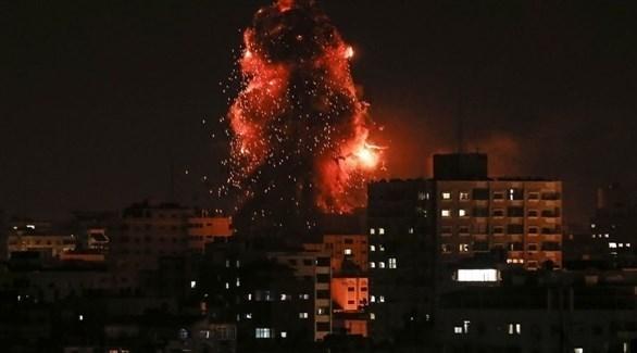 قصف إسرائيلي على غزة (تويتر)