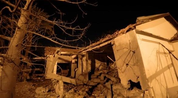 منزل دمرته صواريخ غزة في عسقلان (إ ب أ)