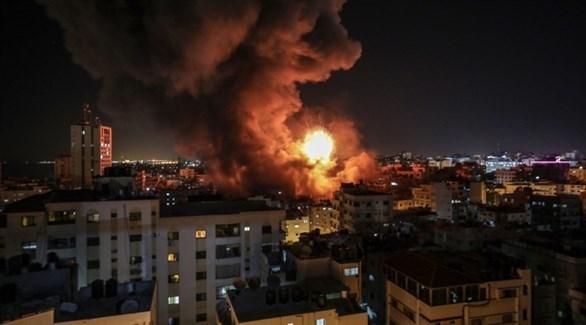 انفجار وسط غزة بعد غارة إسرائيلية (إ ب أ)