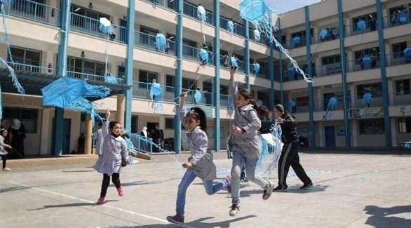 طالبات فلسطينيات في إحدى مدارس أونروا بغزة (أرشيف)