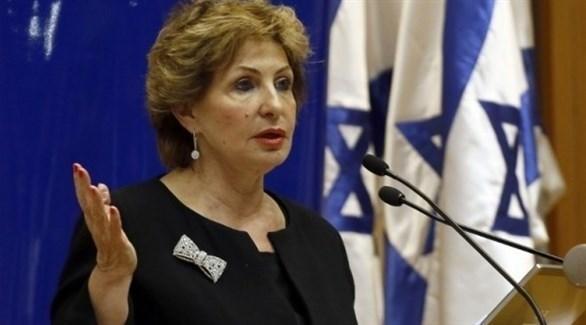 وزيرة الهجرة الإسرائيلية المستقيلة صوفا لاندفير (أرشيف)