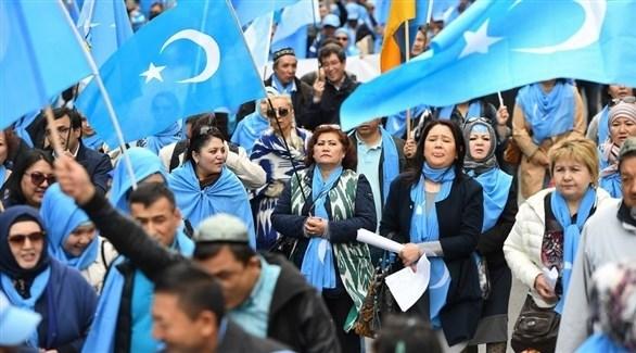 متظاهرون من الويغور الصينيين (أ ف ب)