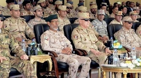 جانب من الحضور في التدريبات الختامية لدرع العرب 1 (المصدر)