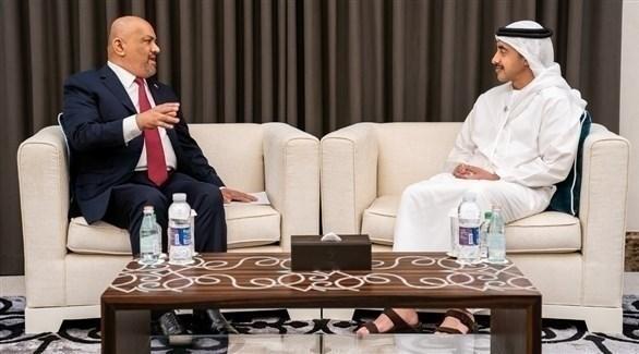 عبدالله بن زايد يستقبل وزير خارجية اليمن في أبوظبي (وام)